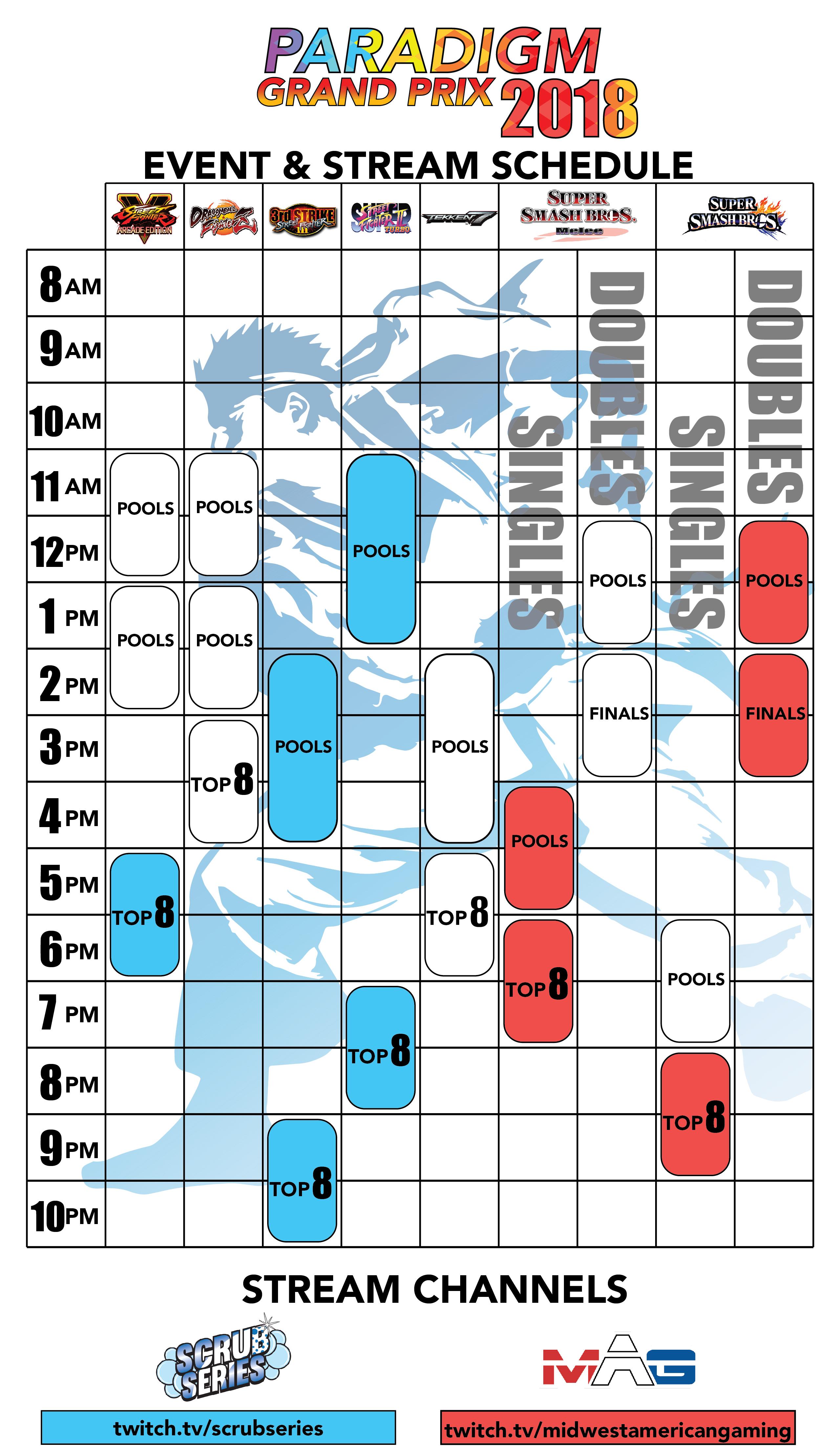 Event & Stream Schedule