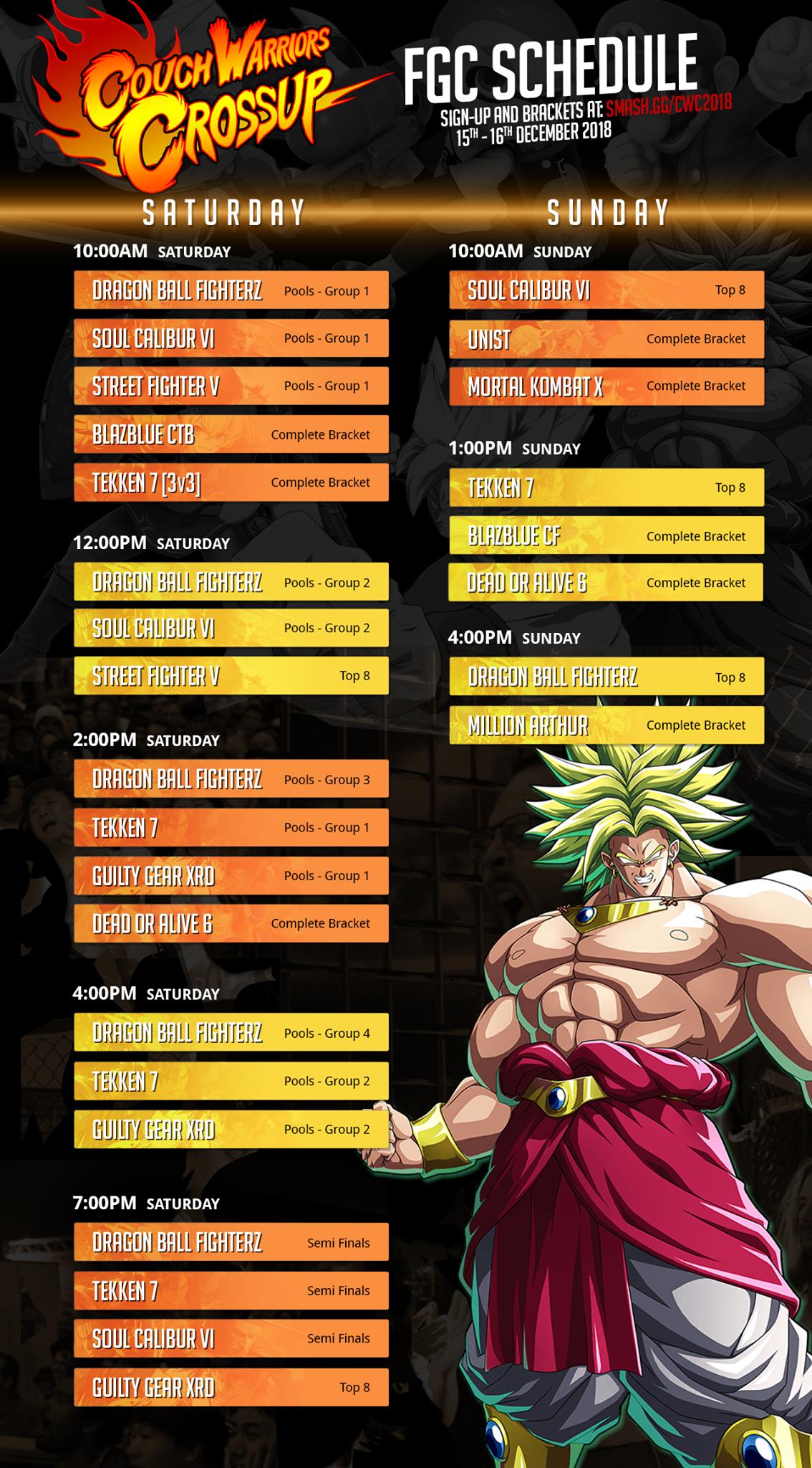 FGC Schedule